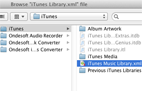audible converter, select itunes library